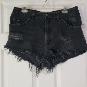 Vintage Lee Destroyed Jean Cutoff Shorts